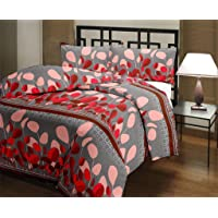Handcraftd Microfiber Flower Print Double Bed Reversible AC Blanket | Dohar | Quilt | Comforter | Duvet (Polycotton, Pink)