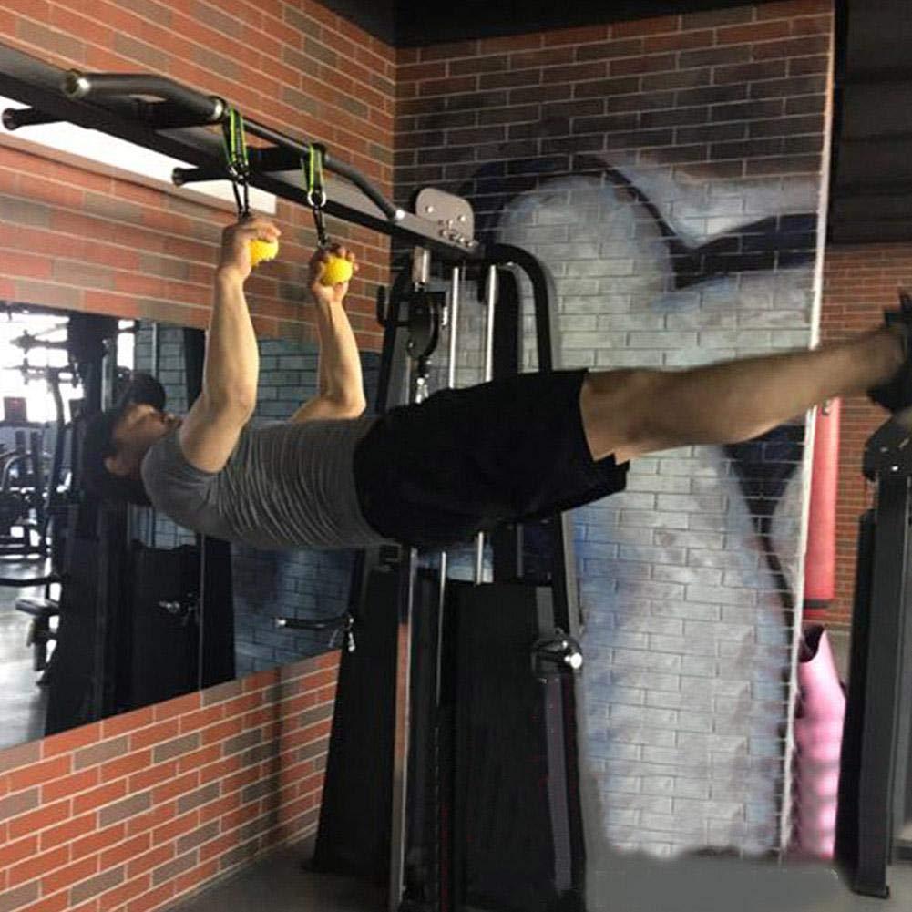 Attrezzatura da Fitness Fitness Antiscivolo con Gancio in Acciaio Inox e Cordino per Allenamento Muscolare Mano Polso Dita Presa S soundwinds Palle da Polso per trazioni e trazioni