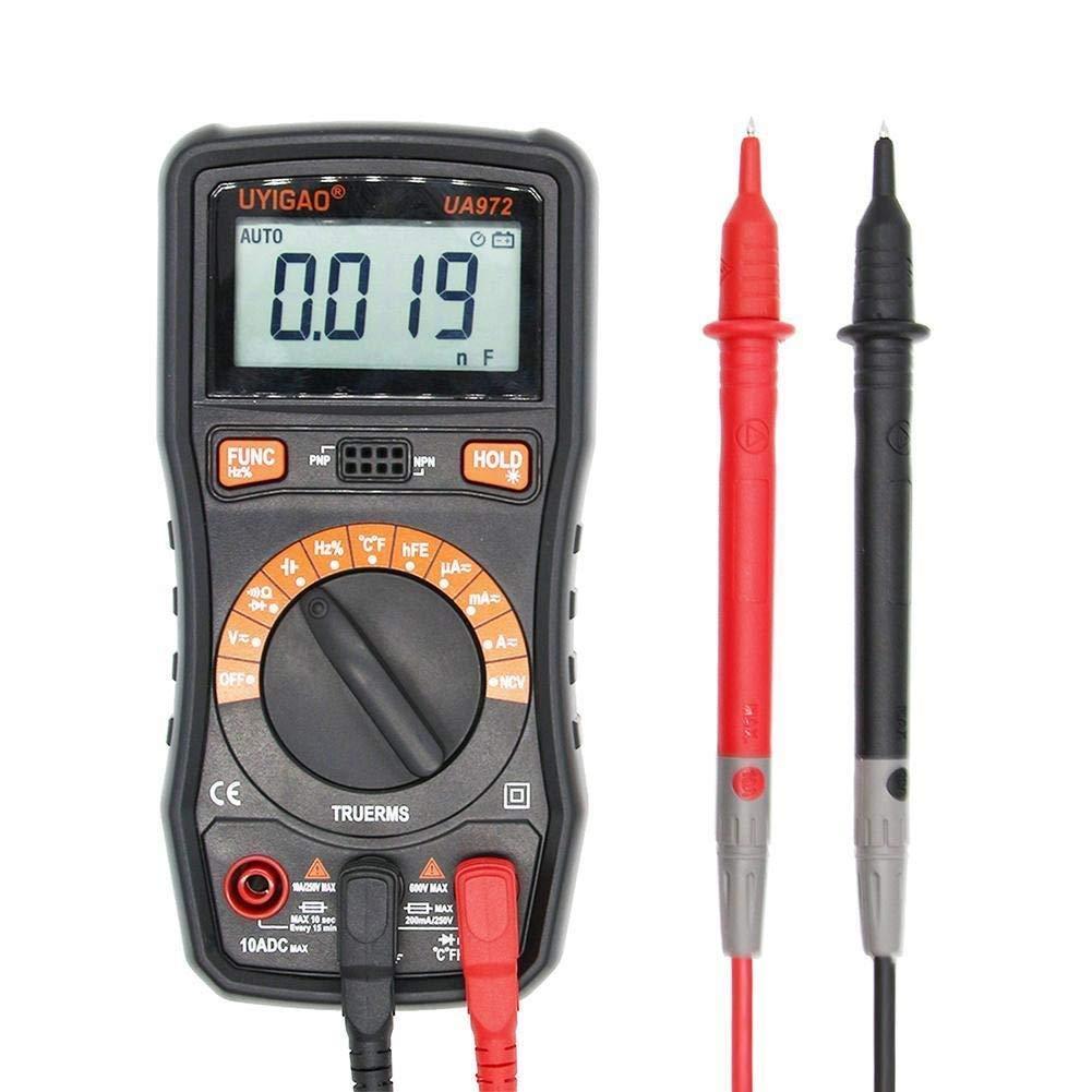 Digital UA972 Mini LCD Digital Multimeter DC/AC Voltage Current Resistance Capacitance Frequency Temperature Measurement Precise