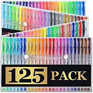 Artist's Choice Gel Pens Set with Case Pack of 125 Individual Colors