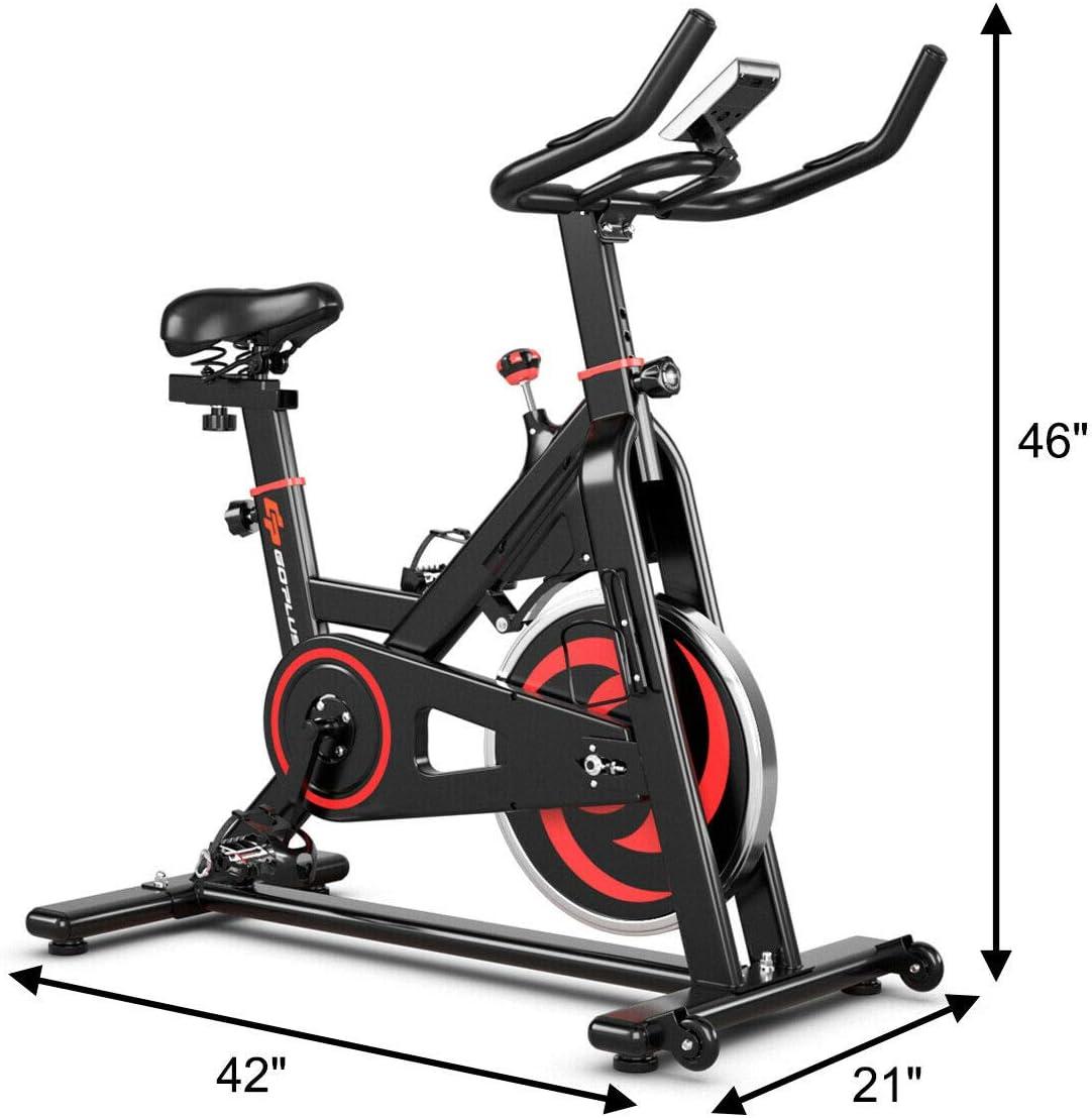 GOPLUS Bicicleta estática para interior de ciclismo, sin ruido ...