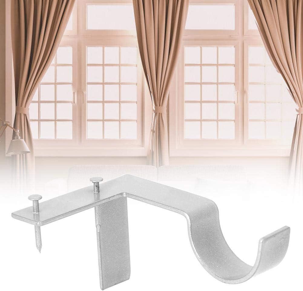 2Pcs Household Curtain Rod Bracket Curtain Hang Holder Stainless Steel Window Frame Curtain Bracket