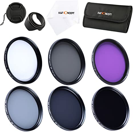 K&F Concept® 49mm UV CPL FLD, ND2+ND4+ND8 Filtro Kit para Lentes