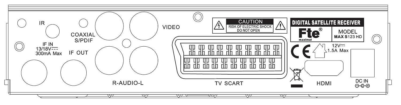 FTE MAX S123 HD - 12 V Camping Receptor HDTV receptor: Amazon.es: Electrónica