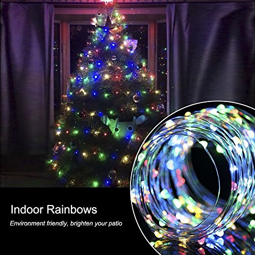 gmfive usb operated copper wire color changing starry lights 6m20ft 60led string usb dc 5v for chritsmas wedding halloween patio party decorations fairy