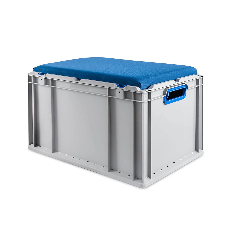 Eurobox Seat Box, Griffe offen, 600x400x320mm, 1 St., blau ab-in-die-BOX.de