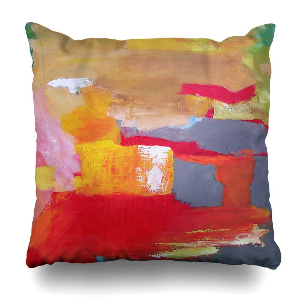 Ahawoso Funda de almohada estilo geométrico abstracto verde ...