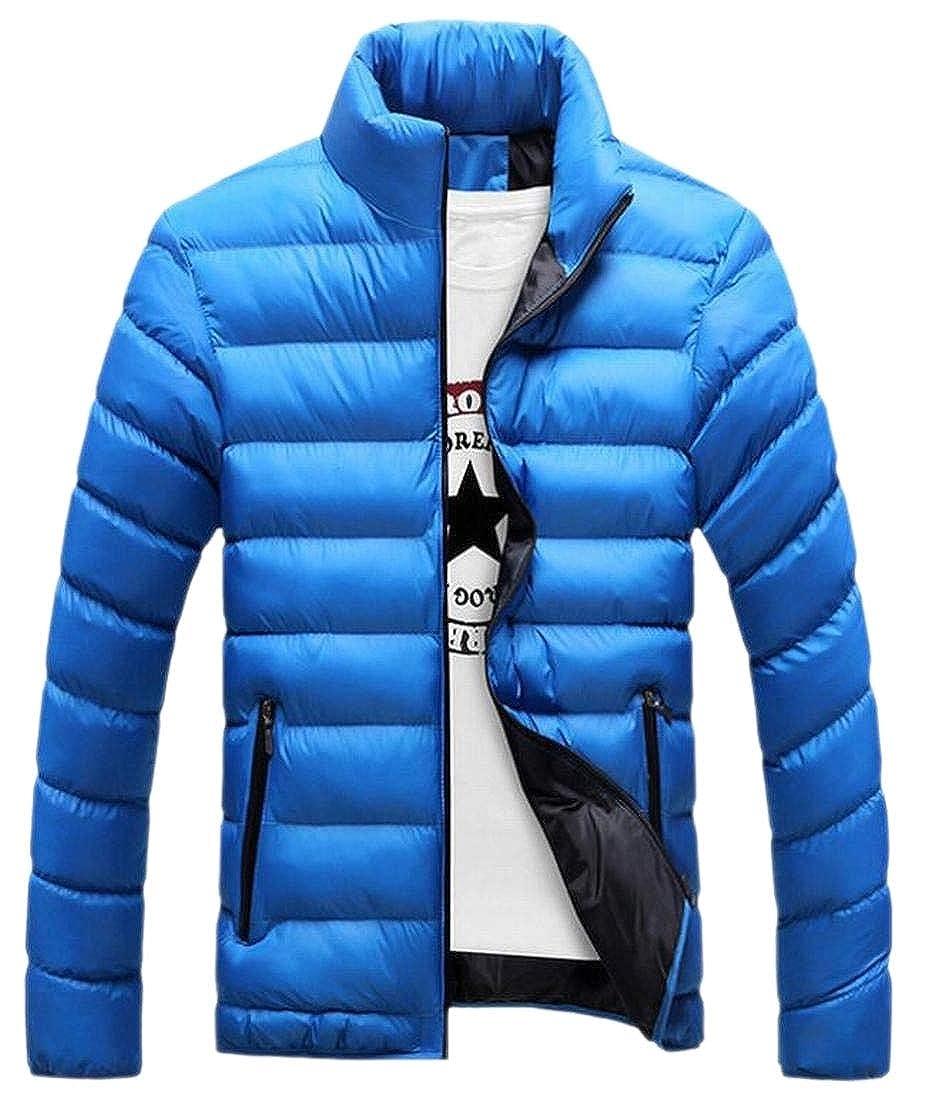 WSPLYSPJY Mens Jacket Packable Puffer Down Coat Ultra-Lightweight Outwear Jacket