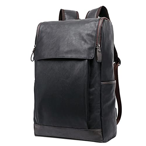 ShiningLove Men s Casual Soft PU Leather Travel Backpack Computer Bag  Schoolbag for High School and College 89b94c7742f6c