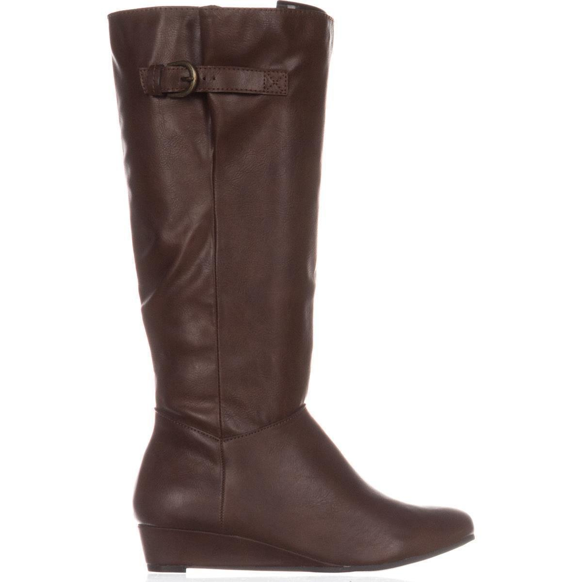 d0a44a057506 Womens Rainne Wedge Riding Boots Cognac 9 M US