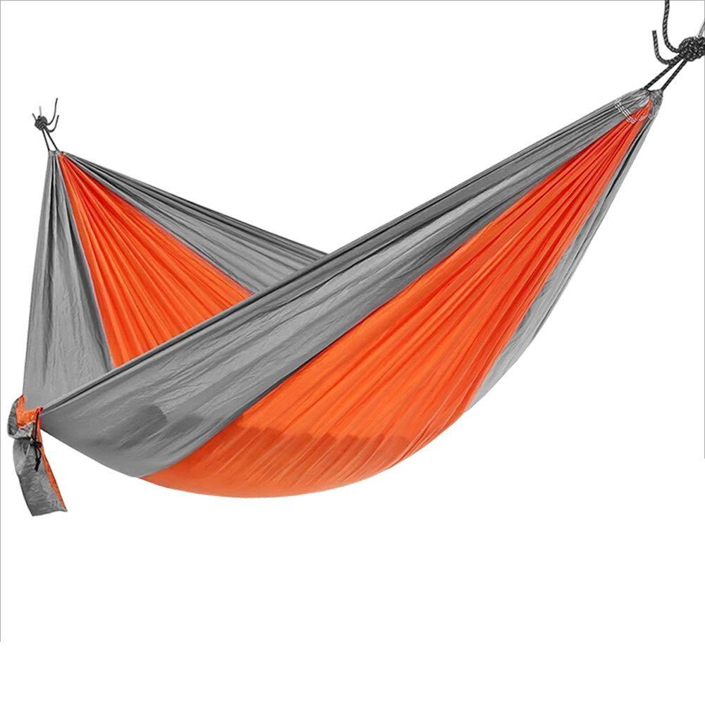 Wangmy Hängematte Farbe Doppel Hängematte Parachute Tuch Licht Hängematte Outdoor Freizeit Schaukel Camping Camping Schaukel mit Seil Haken Aufbewahrungstasche