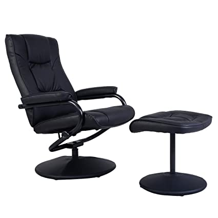 office reclining chair. Plain Reclining Giantex PU Leather Swivel Recliner Chair With Footrest Stool Ottoman  Armchair Lounge Overstuffed Padded Seat With Office Reclining