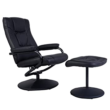 lounge office chair. Giantex Recliner Swivel Armchair Lounge Seat W/ Footrest Stool Ottoman (Black) Office Chair R