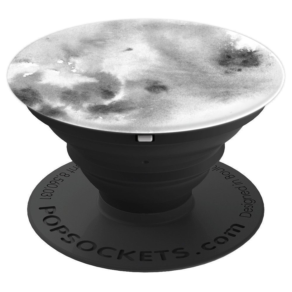 Black White Watercolor Ink - PopSockets Grip and Stand for Phones and Tablets