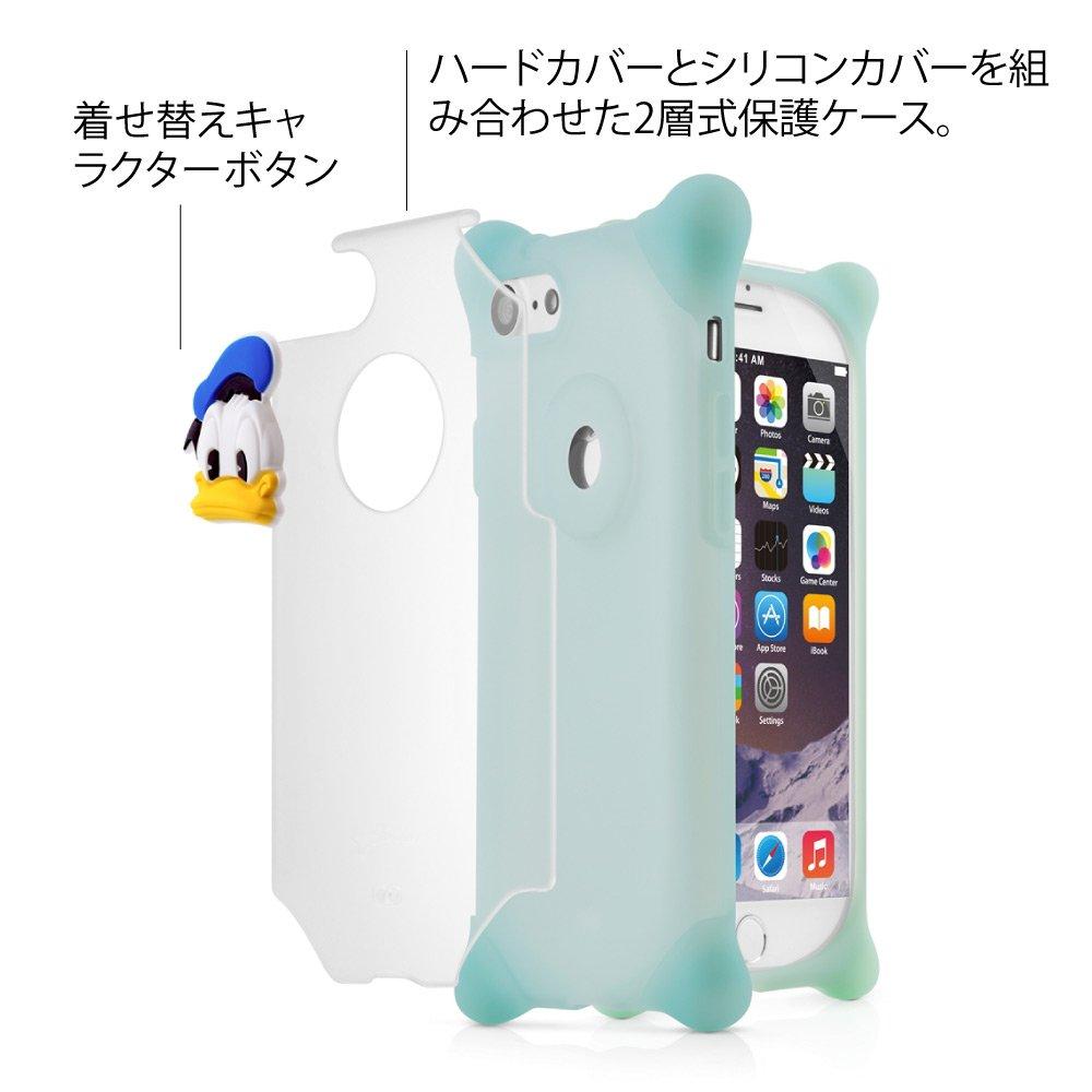 274a113cb8 Amazon   BoneCollection ディズニー ドナルド Phone Bubble 7/8 スマホケース ストラップ付き シリコン素材  2層式カバー (ブルー)   ケース・カバー 通販