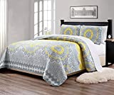 yellow quilt queen - MK Home Mk Collection 3pc Queen Over Size 106