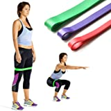 Exercise Resistance Loop Bands- Set of 3 Light, Medium and Heavy Exercise Bands / Assisted Pull Up Bands / Powerlifting Bands best for Stretch, Therapy, Running, PilatesStretch, Therapy, Running, Pilates