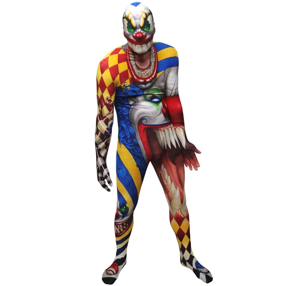 Clown Morphsuit Verkleidung, Kostüm XXLarge - 6'2-6'9 (186cm-206cm) B00FPOYUIE Kostüme für Erwachsene Kinder mögen  | Haltbarkeit
