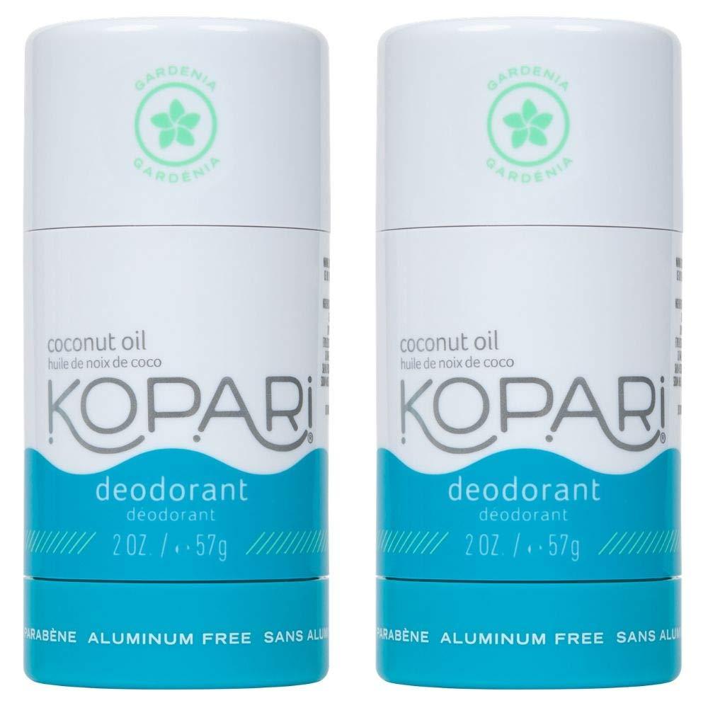 Kopari Aluminum-Free Deodorant Gardenia | Non-Toxic, Paraben Free, Gluten Free & Cruelty Free Men's and Women's Deodorant | Made with Organic Coconut Oil | Gardenia | 2 Pack, 2.0 oz