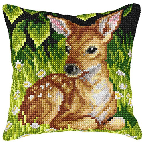 (Orchidea Roe-Deer Pillow Needlepoint Kit)