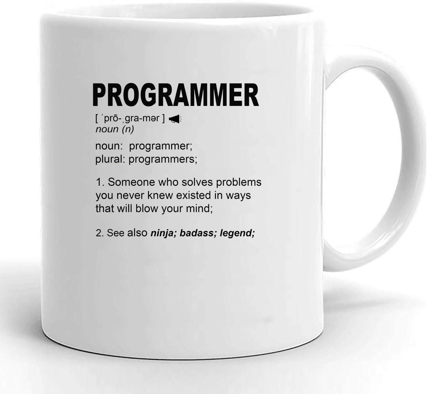 N\A Regalos de Programador informático para Hombres y Mujeres, Regalos de graduación universitaria para programadores, Divertida Taza de café con Nombre Personalizado