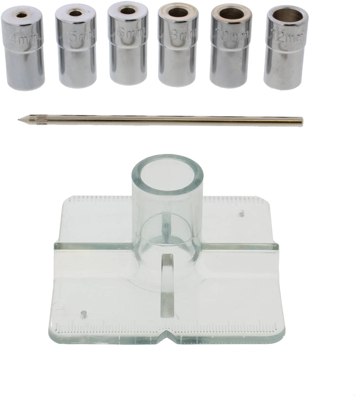 3//16 to 1//2in Bushings Locating Pin DCT SAE Drill Bit Guide Centering Punch 8-pc Center Drilling Set Kit Guide