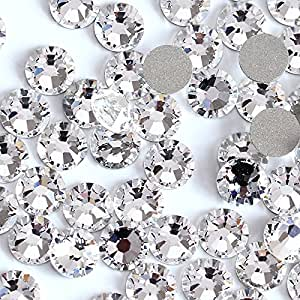 Amazon.com  Small Size Nail Art Rhinestone Crystal Clear Color SS3-SS50 Flatback  Non Hot Fix Rhinestone Glue On For Nails Y0100 SS5 1440pcs  Beauty d652279a2e3e
