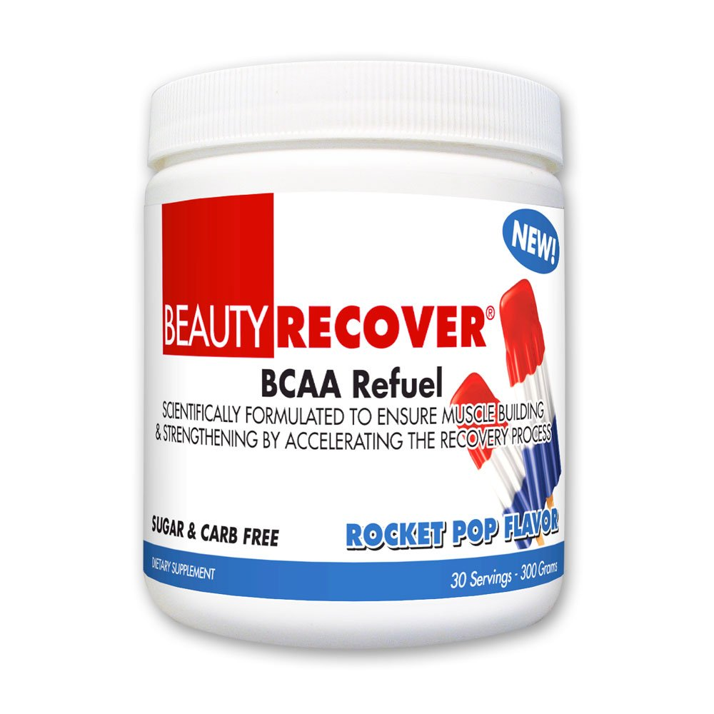 BeautyFit BeautyRecover, BCCA Refuel For Women, 300 grams (30 Servings)  (Rocket Pop, 30 Servings)