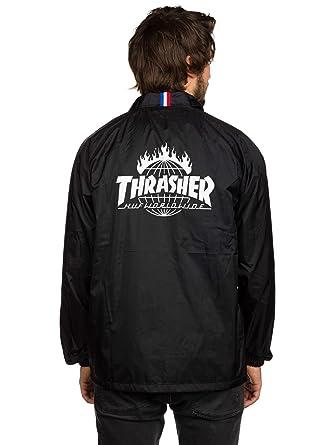 7d23af423455 Amazon.com  HUF THRASHER TDS Coach Jacket - Black-Large  Clothing