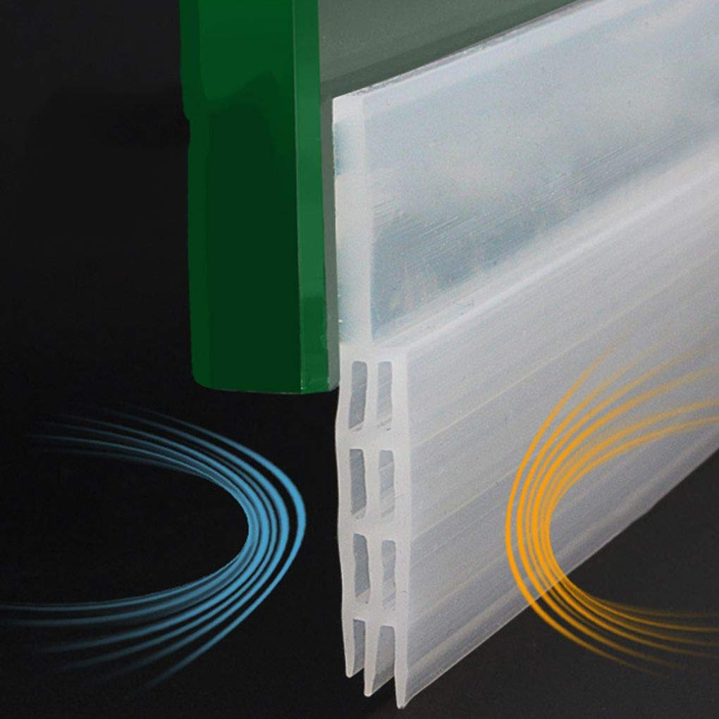 Provide The Best 1m Door Bottom Sealing Silicone Draft Stopper Adhesive Threshold Seals Rubber Self-Adhesive Doors Seal Strip Stickers
