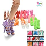 iDream Colourful Fashion Doll Shoes, Assorted