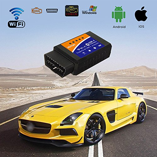 HOTOM BDII OBD2 ELM327 Interface WiFi Wireless Car Auto Diagnostic Scanner Scan Tool Adapter Reader for Apple iPhone and Android
