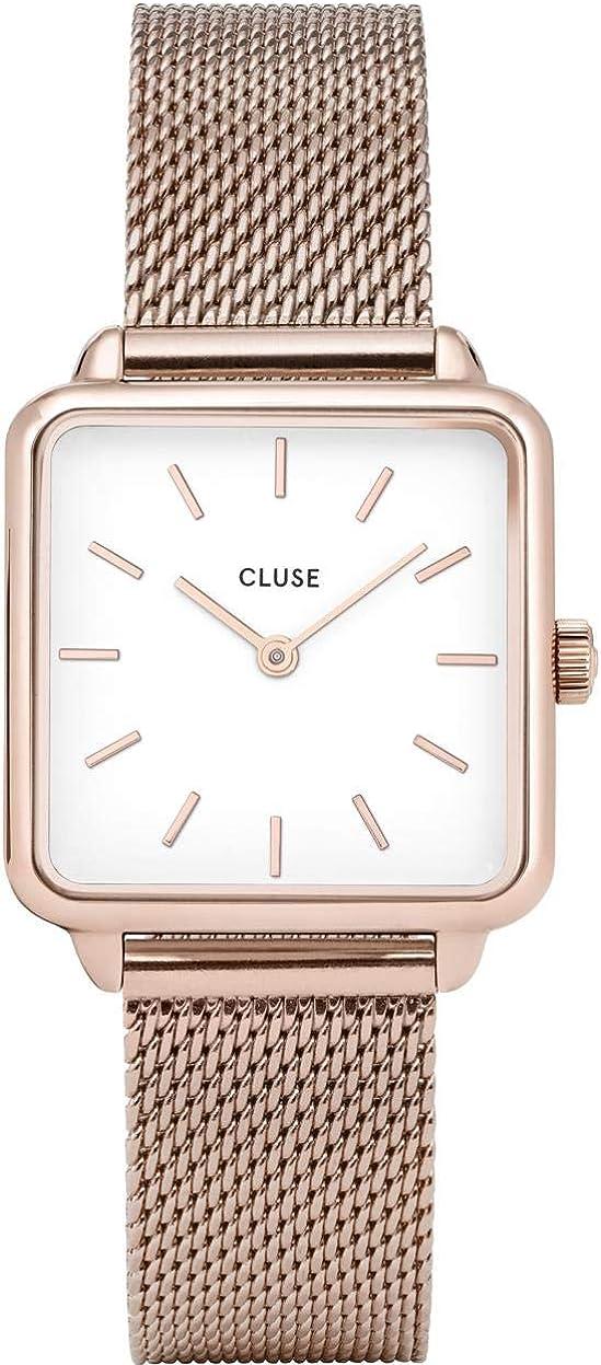 CLUSE Reloj Analógico para Mujer de Cuarzo con Correa en Acero Inoxidable CL60003