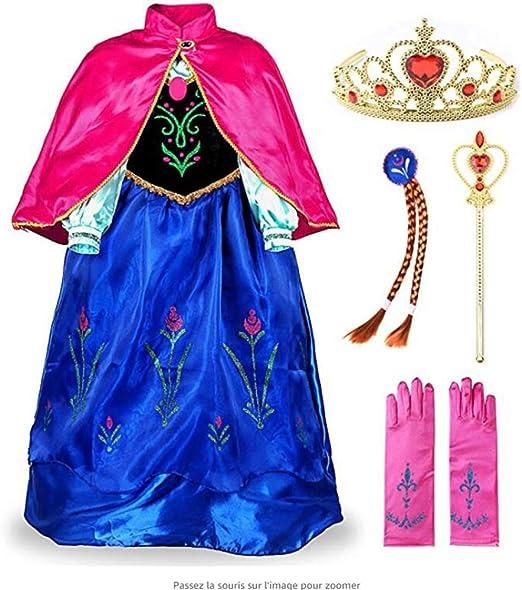 MKLKYY Princesa Disfraz Frozen Elsa Anna Carnaval Navidad ...