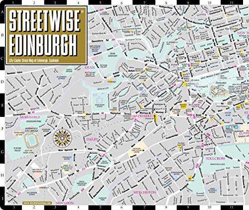 Edinburgh Street Map Streetwise Edinburgh Map   Laminated City Center Street Map of  Edinburgh Street Map