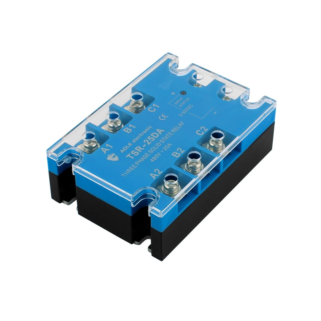 Tsr 25da 3 32vdc To 480vac 25a Three Phase Solid State Relay Module Varistor Dc Ac Authorized Business Industry Science