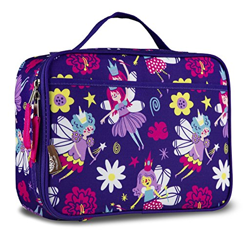 LONECONE Kids' Insulated Fabric Lunchbox - Cute Patterns for Boys and Girls, I'm Fairy Hungry