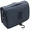ITraveller Portable Hanging Toiletry Bag/Portable Travel Organizer Cosmetic Bag for Women Makeup or Men Shaving Kit with Hanging Hook for Vacation, Dark Blue Star