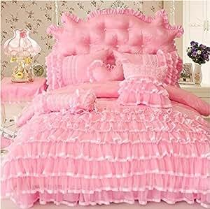 Lelva luxury beautiful wedding bedding set for Bride kitchen queen set