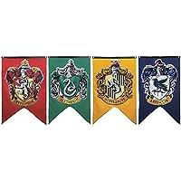 Soviton Bannières murales avec emblèmes des maisons de Poudlard : Gryffondor, Poufsouffle, Serdaigle et Serpentard