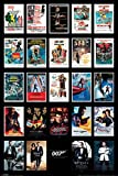 James Bond 007 Spy Film Movie Series Franchise 24 Movies Poster Including Spectre Poster 24x36
