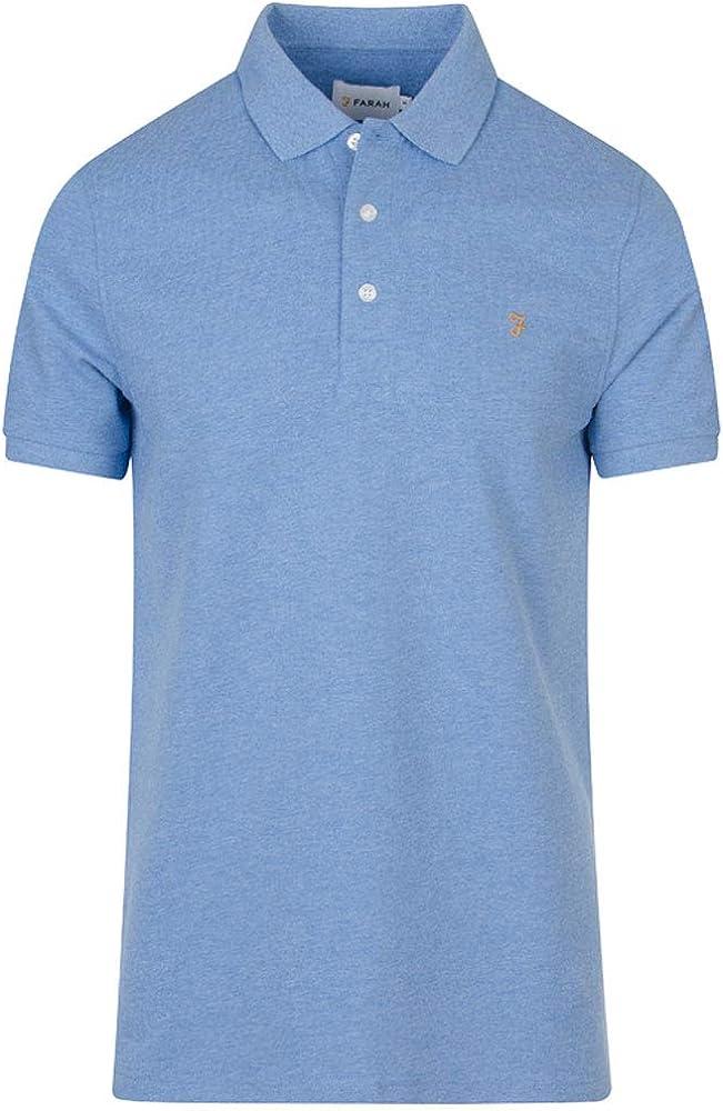 Farah Men's Blanes Polo Shirt Blue River