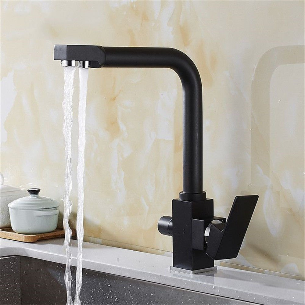 In-Wall Kitchen Chrome Faucet hot and Cold Copper Sink Sink Basin redating Faucet