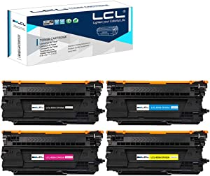 LCL Remanufactured Toner Cartridge Replacement for HP 655A CF450A CF451A CF452A CF453A Color Laserjet Enterprise M681f MFP M681z MFP M682z (4-Pack Black Cyan Magenta Yellow)