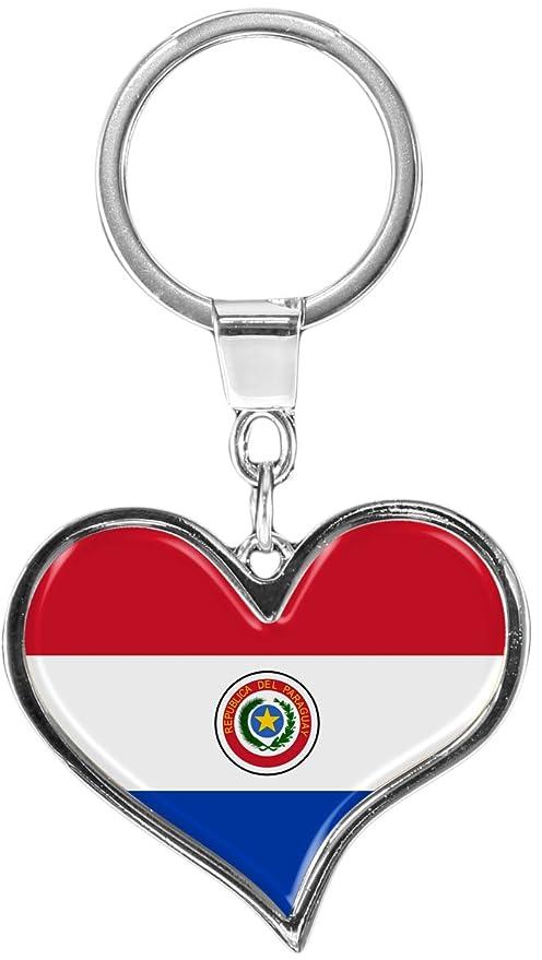 metALUm Llavero de metal / Bandera Paraguay / 6611084S