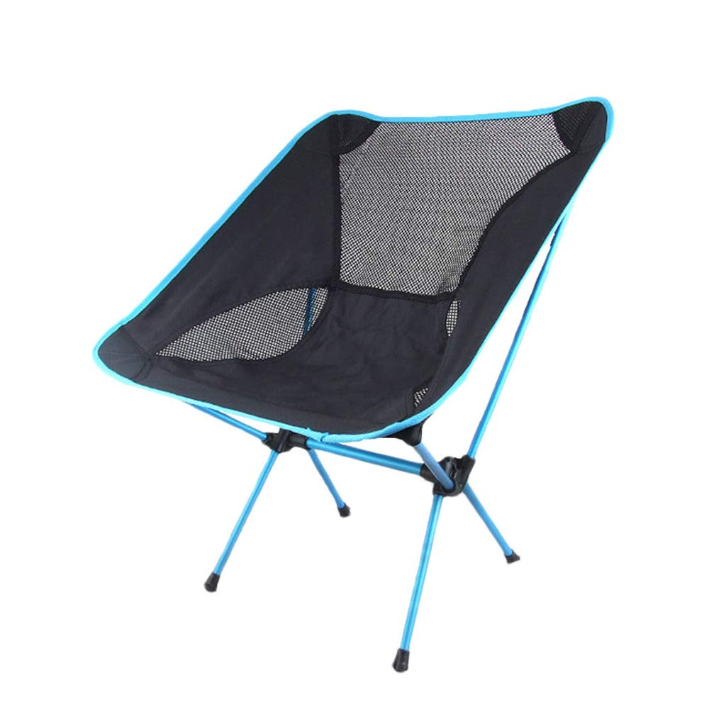 ZHANGJN Ultralight Folding Camp Chairs Aluminum Portable Backpack Chair with Carry Bag for Outdoor, Festival, Beach, Hiking-Blue by ZHANGJN