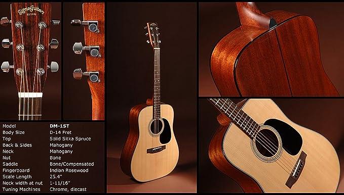 Guitarra Acústica Sigma dm-1st: Amazon.es: Instrumentos musicales