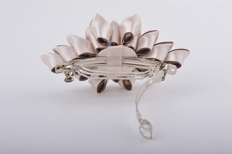 Hebilla para el pelo artesanal adorno para el cabello con flor regalo original: Amazon.es: Hogar