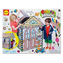 ALEX Toys - Color a House Children's Kit with (6) Washable Markers and Cardboard House, 198H