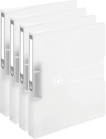 Herlitz – Archivador (A4, 2 anillas, 25 mm, película de PP transparente Pack de 4: Amazon.es: Industria, empresas y ciencia
